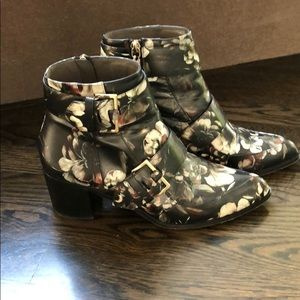 Jason Wu floral print leather bootie